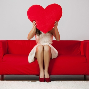 Valentine on Couch
